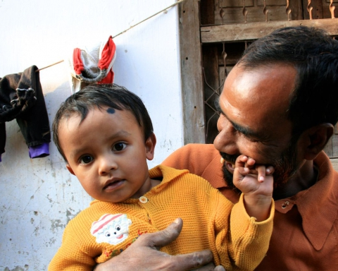 Bangladeshi dad and kiddo